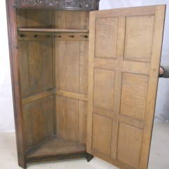 Oak Furniture Sofa Beds Sofas On Credit Northern Ireland Antique Style Carved Corner Wardrobe - Sold